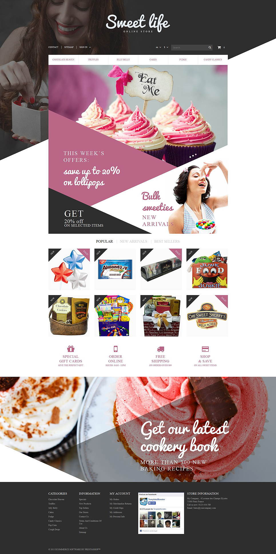 Sweets Shop (ecommerce PrestaShop template) Item Picture