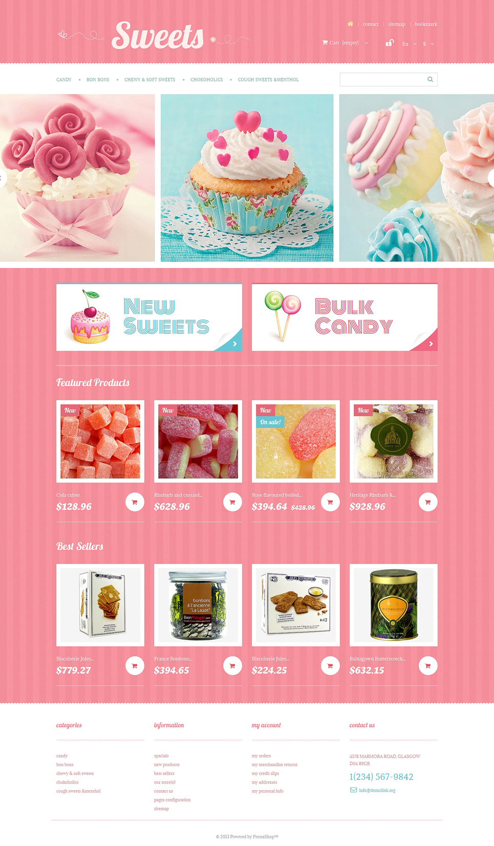 Sweets Store (ecommerce PrestaShop template) Item Picture