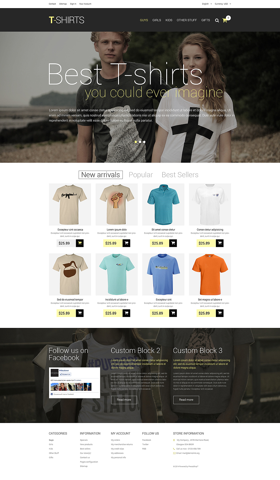 T-Shirts (theme for PrestaShop) Item Picture
