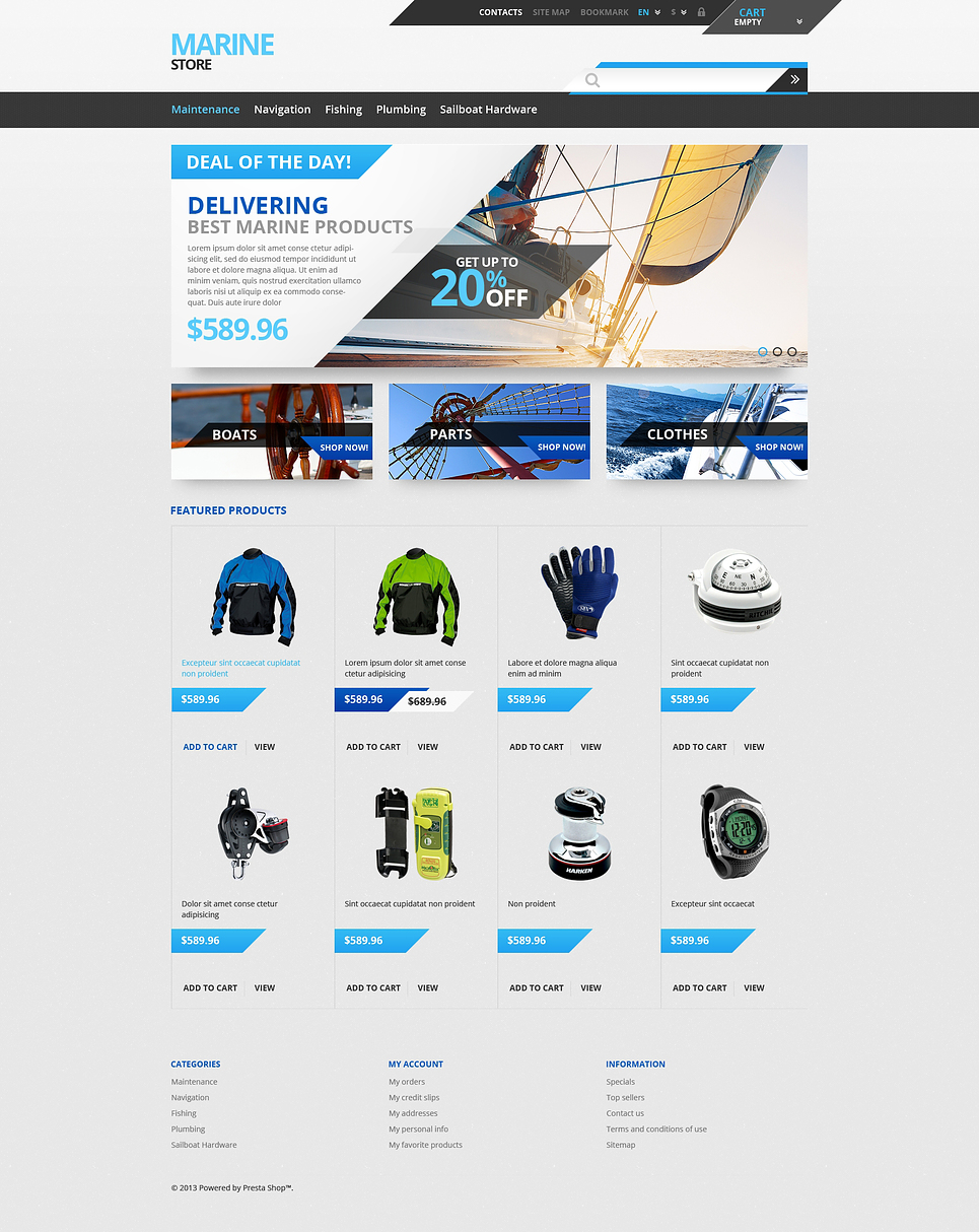 Marine Shop (PrestaShop template) Item Picture