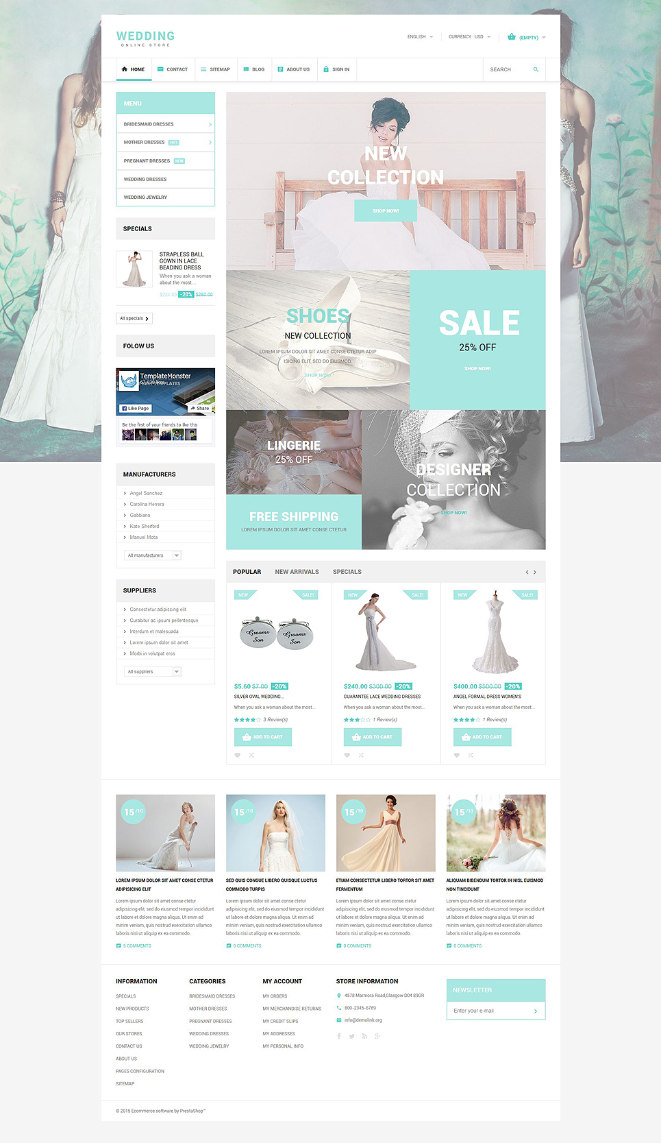Wedding (ecommerce template for PrestaShop ) Item Picture