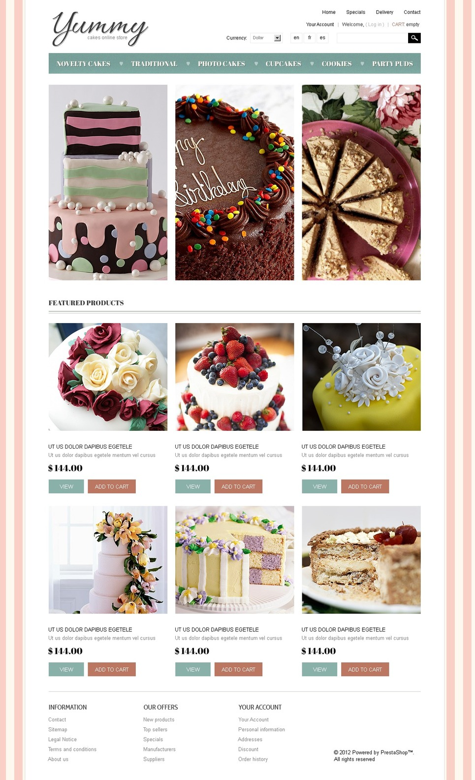 Yummy Cakes (ecommerce PrestaShop template) Item Picture