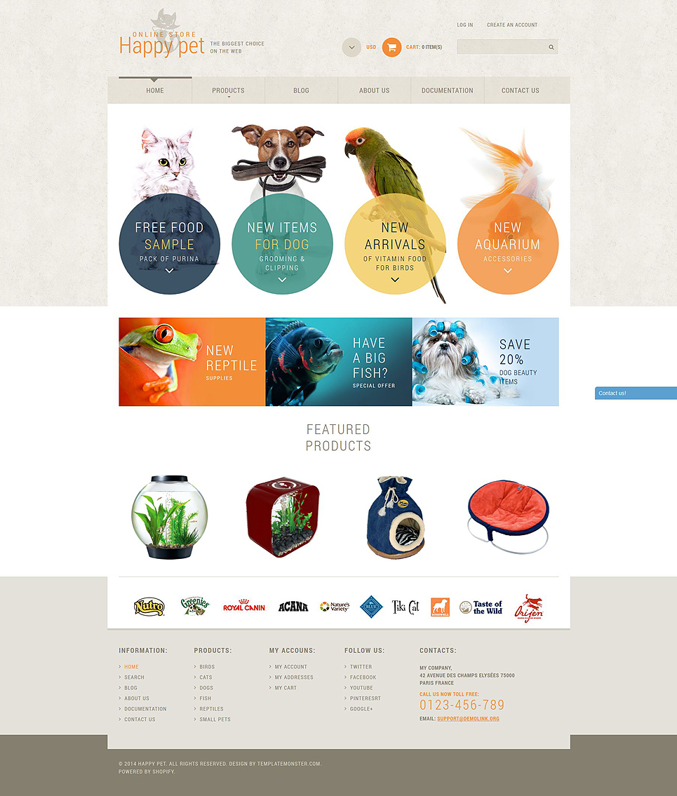 Pet Supplies Store (ecommerce Shopify theme) Item Picture