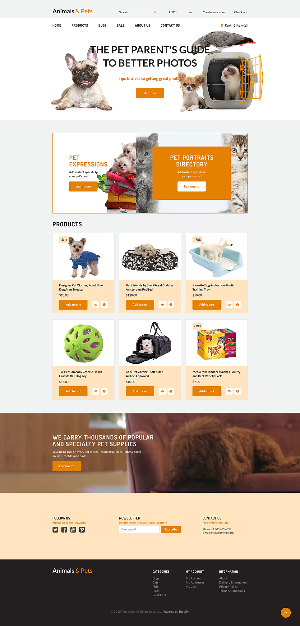 Animals & Pet Supplies (ecommerce Shopify theme) Item Picture