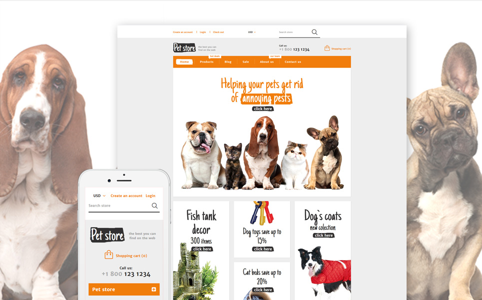 Animal & Pets Gear (ecommerce Shopify theme) Item Picture