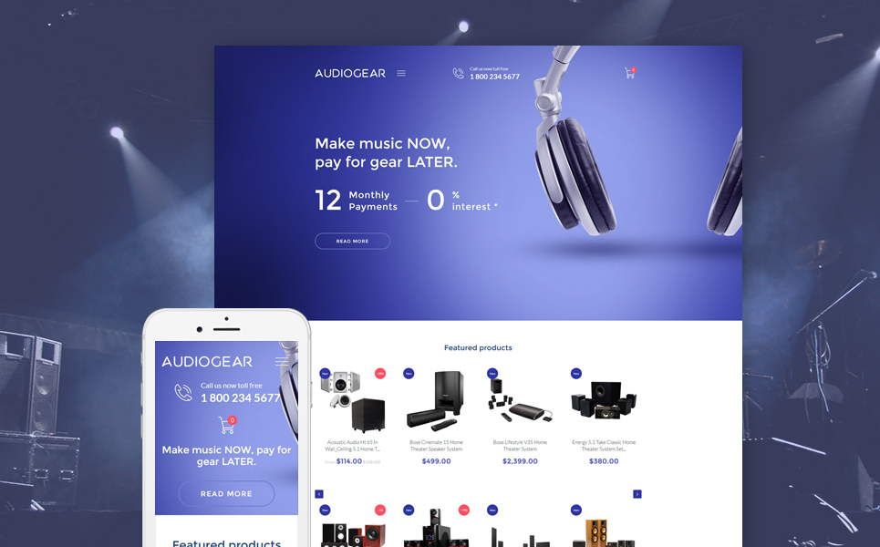 Audio Gear Store (Shopify theme for ecommerce) Item Picture