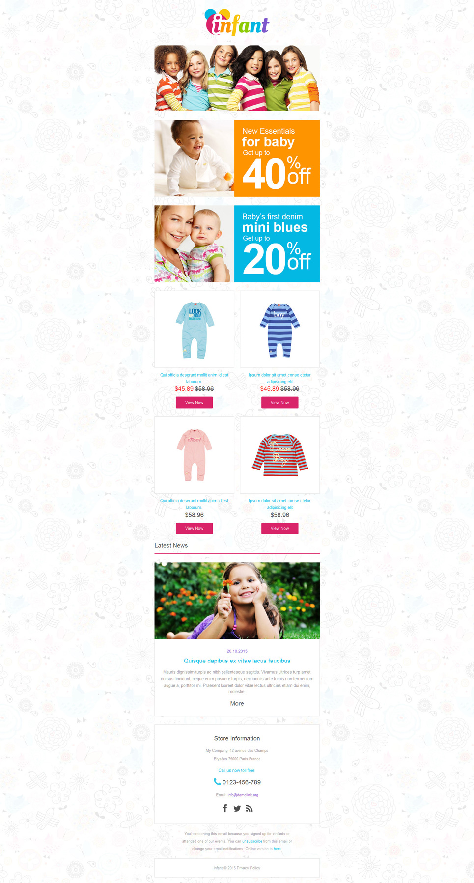 Baby Store (newsletter template) Item Picture