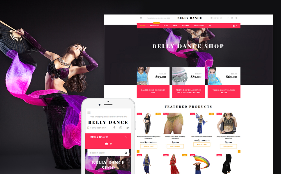Belly Dance (Shopify theme for ecommerce sites) Item Picture
