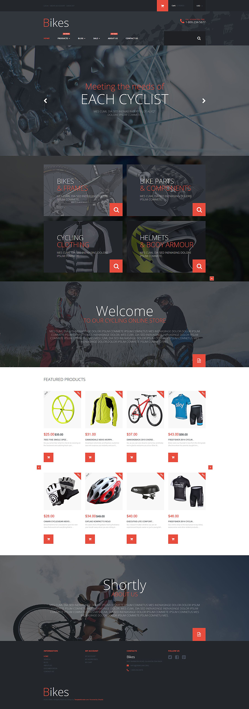 Bike Store (ecommerce theme) Item Picture