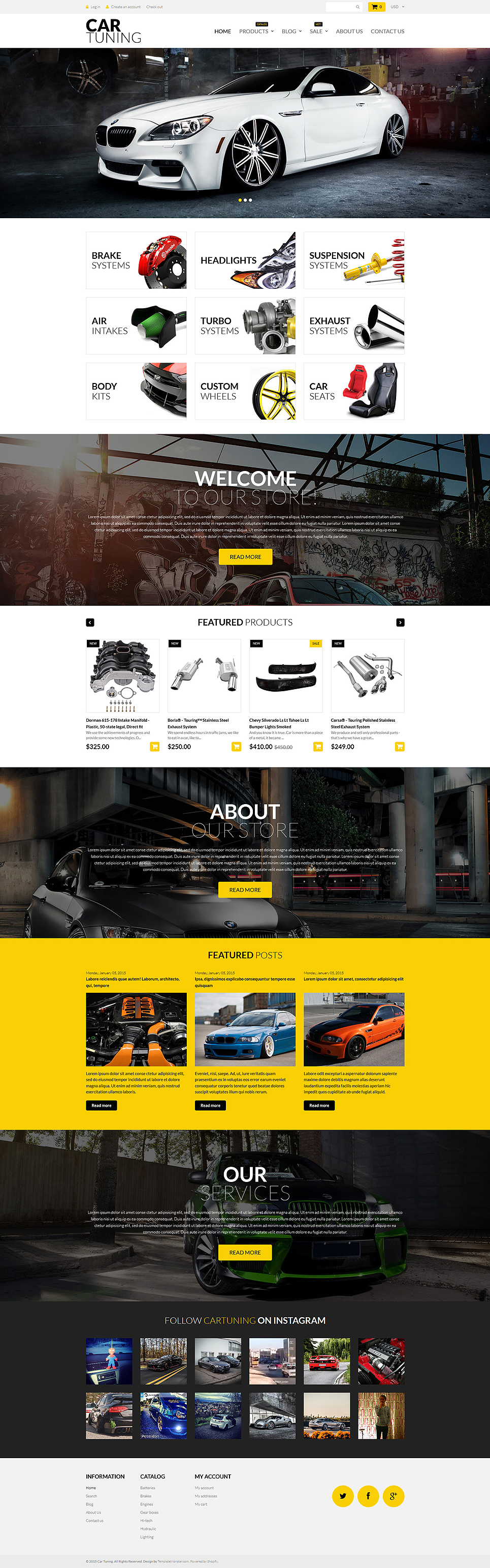 Car Tuning (theme for Shopify) Item Picture