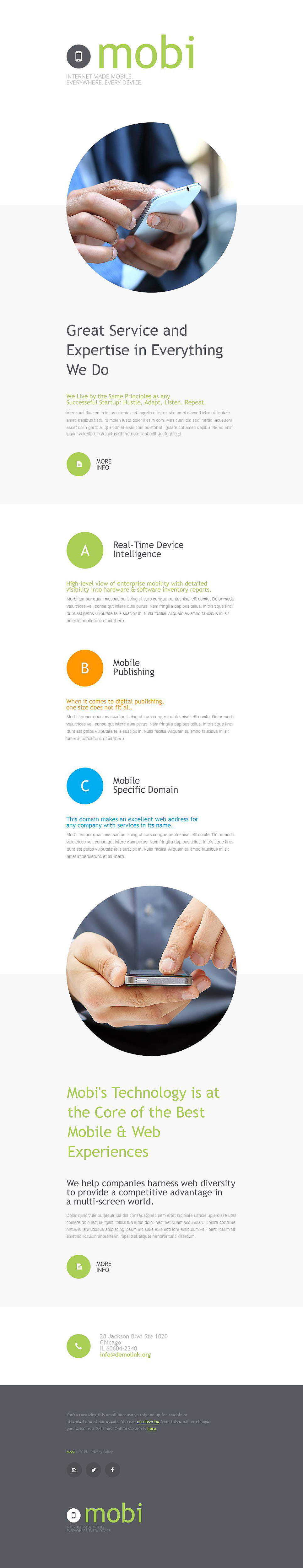 Communications (responsive newsletter template) Item Picture