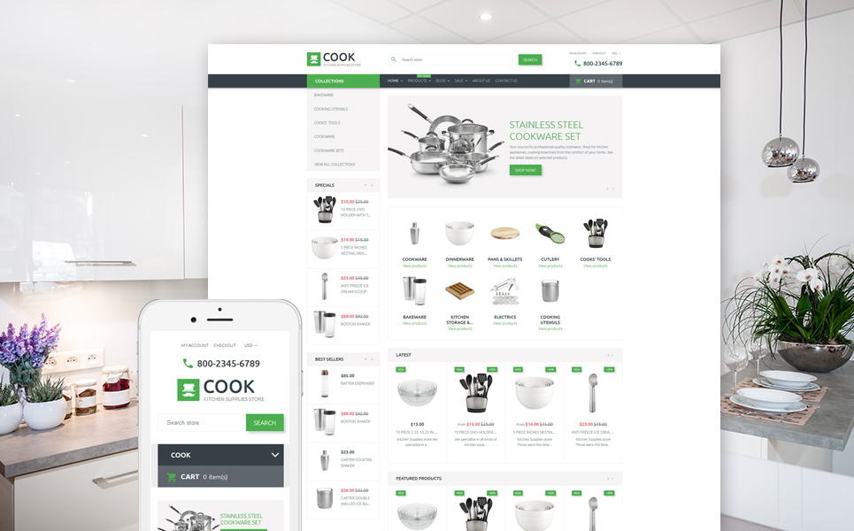 Cook (Shopify ecommerce theme) Item Picture