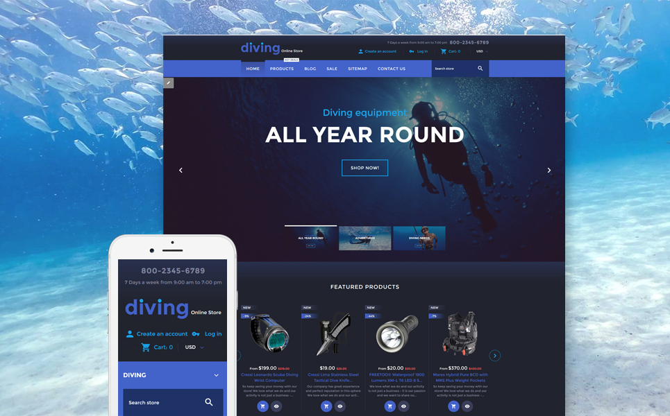 Deep Dive (Shopify theme) Item Picture