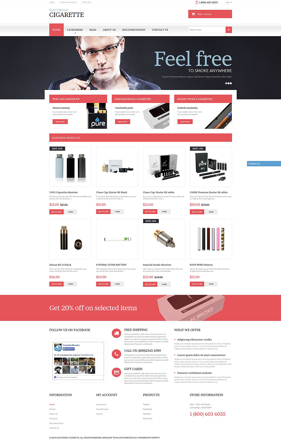 Electronic Cigarettes (theme for Shopify) Item Picture
