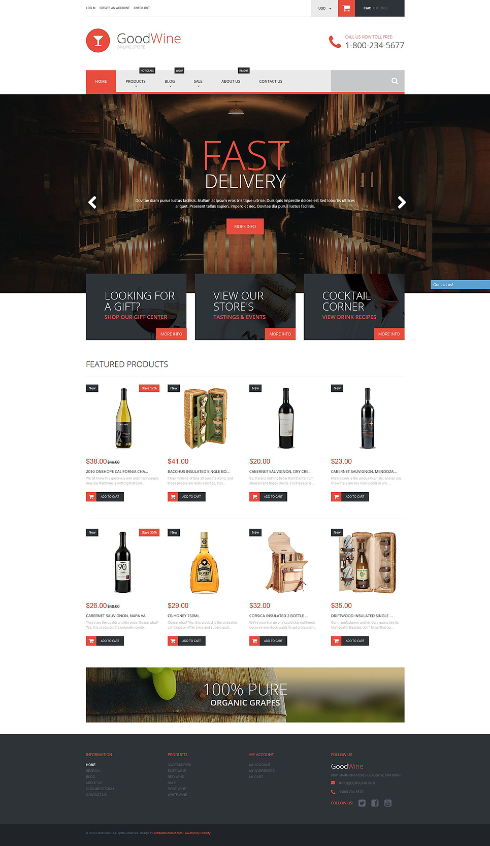 GoodWine (ecommerce theme) Item Picture