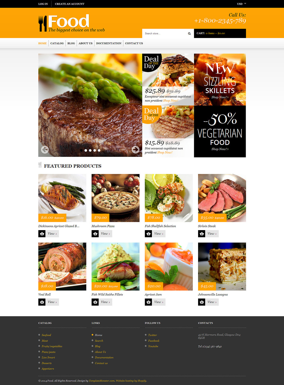 Food Store (Shopify theme for ecommerce sites) Item Picture