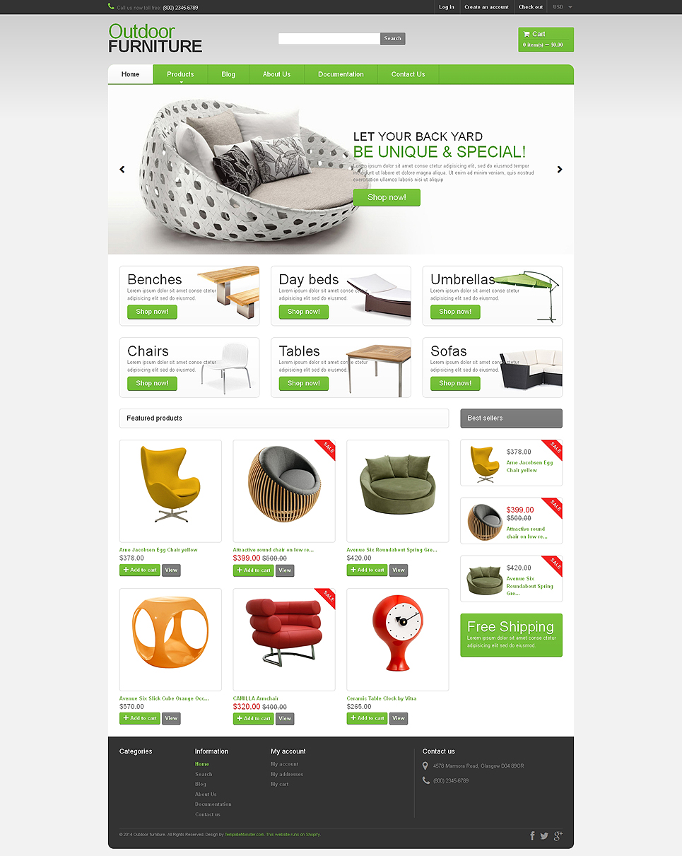 Furniture Store (theme for Shopify) Item Picture