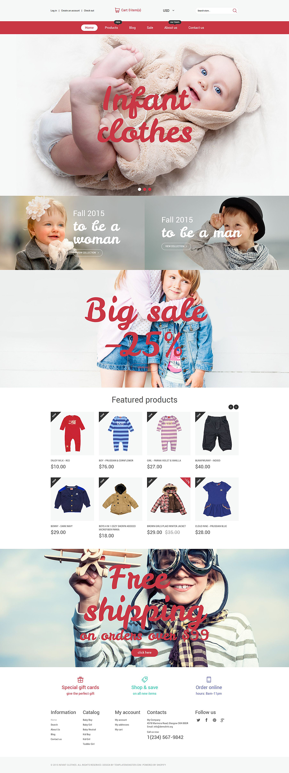 Infant Clothing Store (ecommerce website theme) Item Picture
