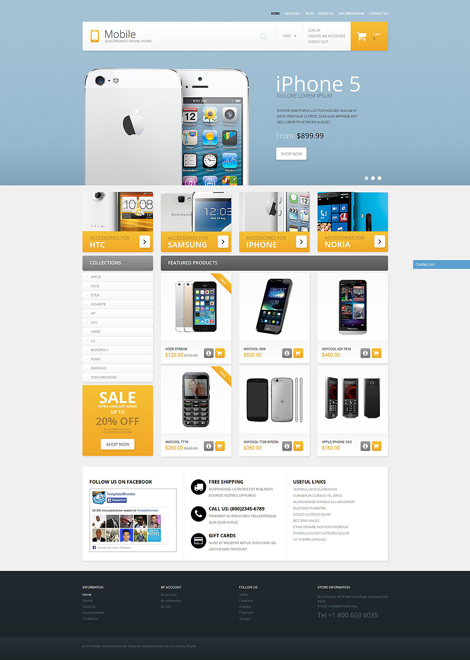 Mobile Phones Shop (theme for Shopify) Item Picture