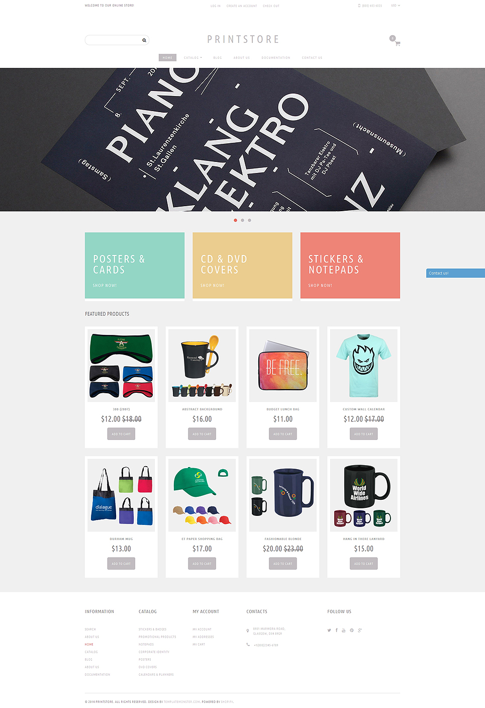 Online Print Shop  (ecommerce Shopify theme) Item Picture