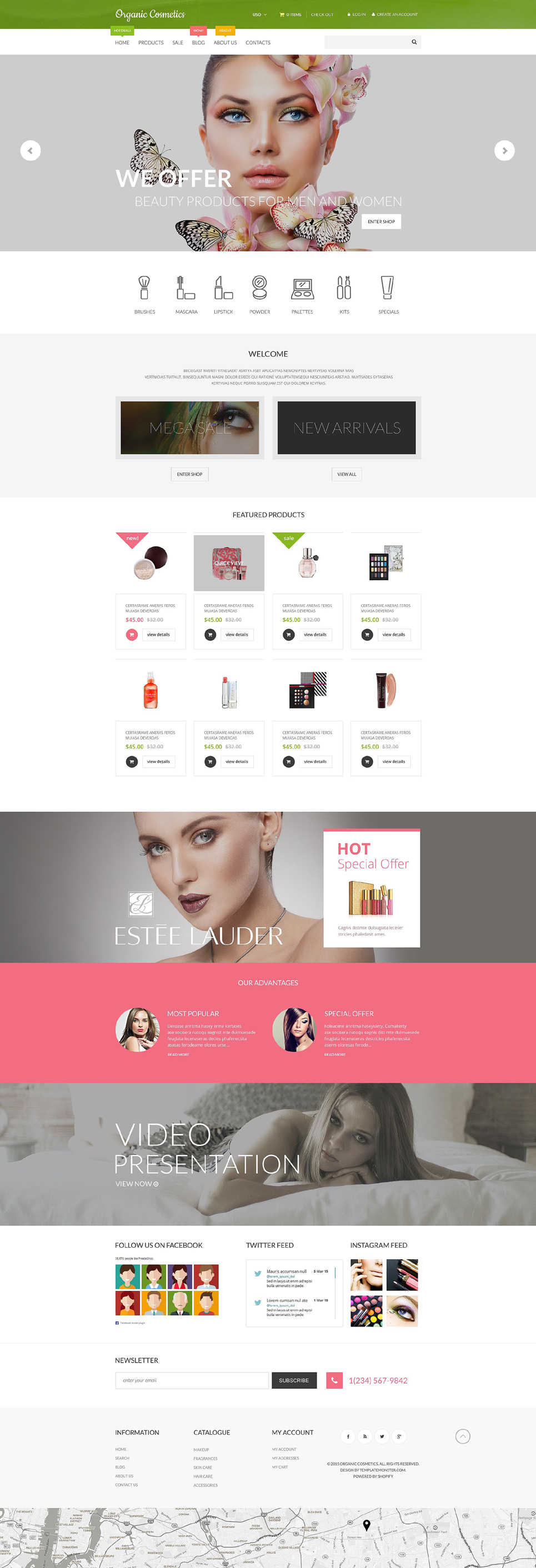 Organic Cosmetics (theme for Shopify) Item Picture