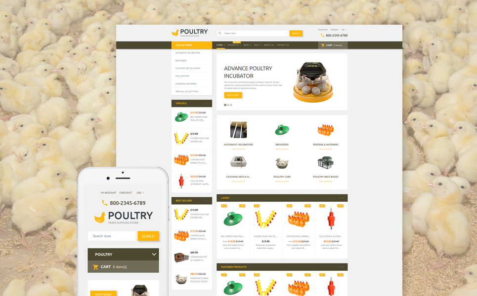 Boldly Poultry (Shopify theme for ecommerce sites) Item Picture