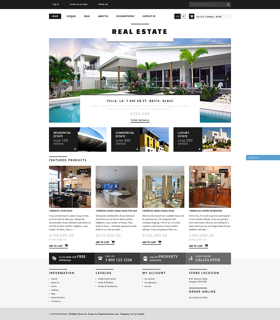Real Estate Agency (website theme) Item Picture