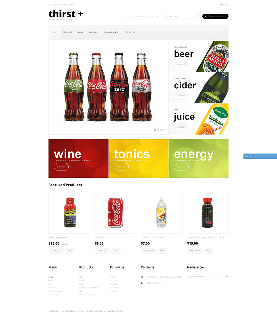 Thirst (Shopify ecommerce theme) Item Picture