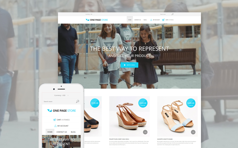 Shoe Store (ecommerce Shopify theme) Item Picture