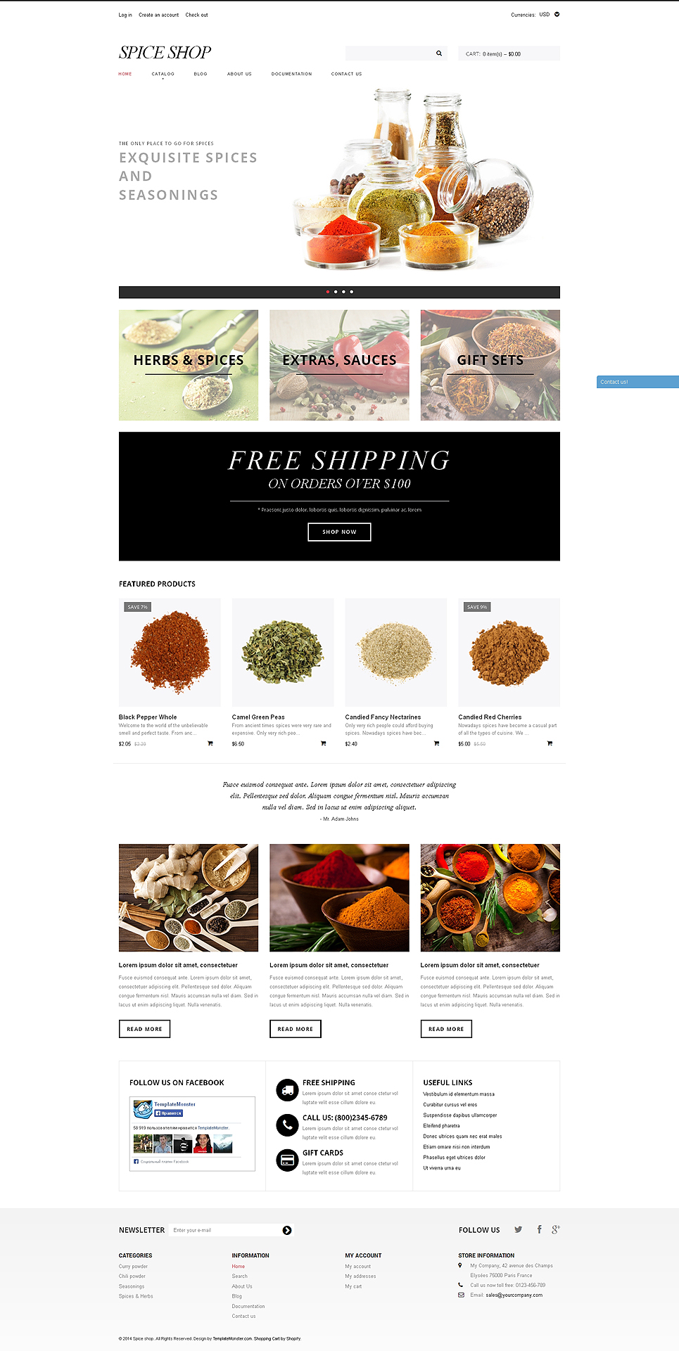 SpiceEEE (Shopify ecommerce theme) Item Picture