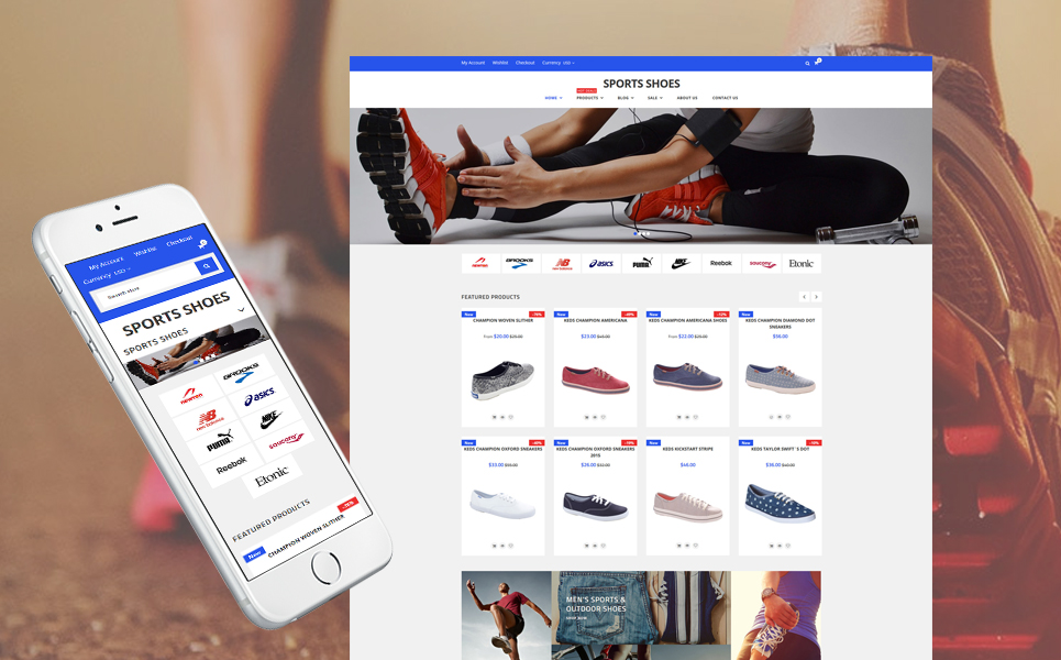 Sport Shoes (ecommerce Shopify theme) Item Picture