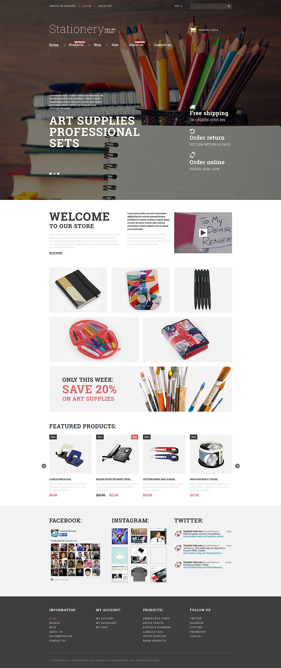 Stationery Goods (ecommerce website theme) Item Picture