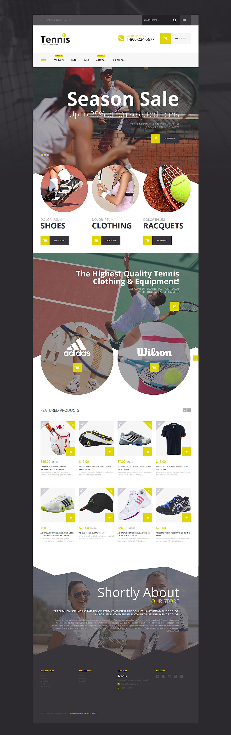 Tennis Ace (ecommerce theme) Item Picture