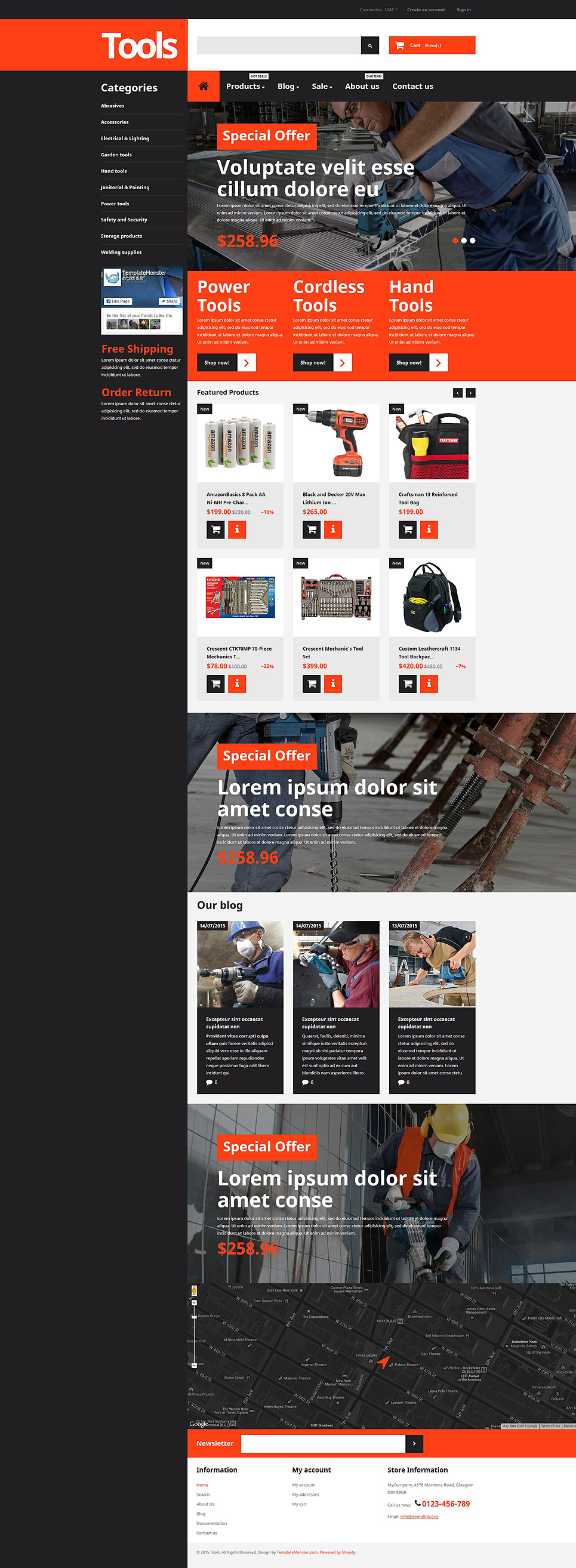Tools & Equipment (theme for Shopify) Item Picture