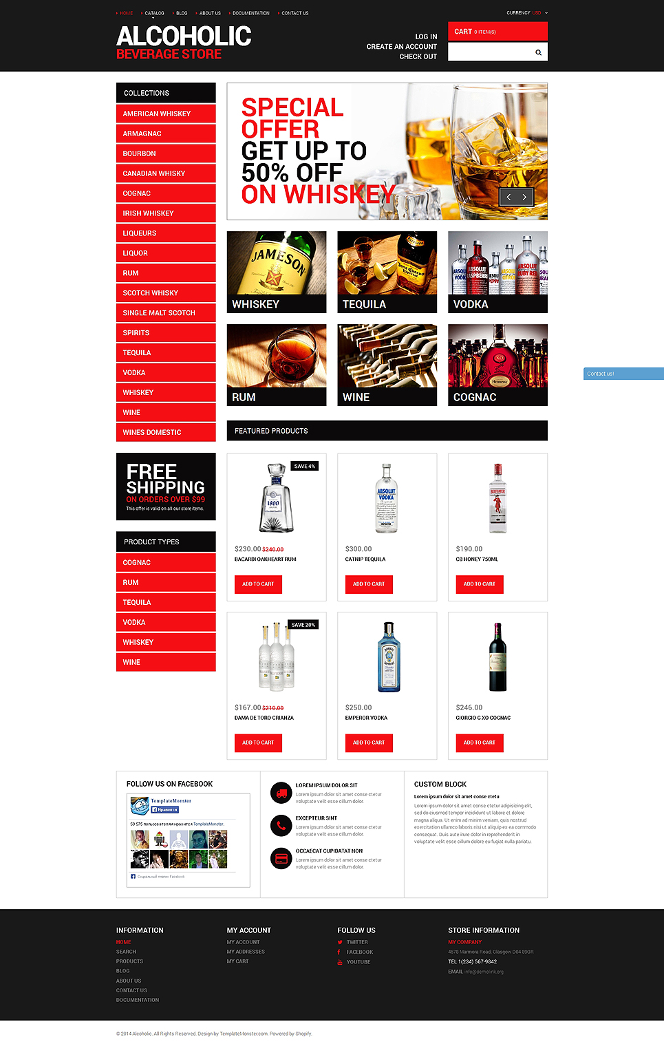 Your Beverage Store (website theme) Item Picture