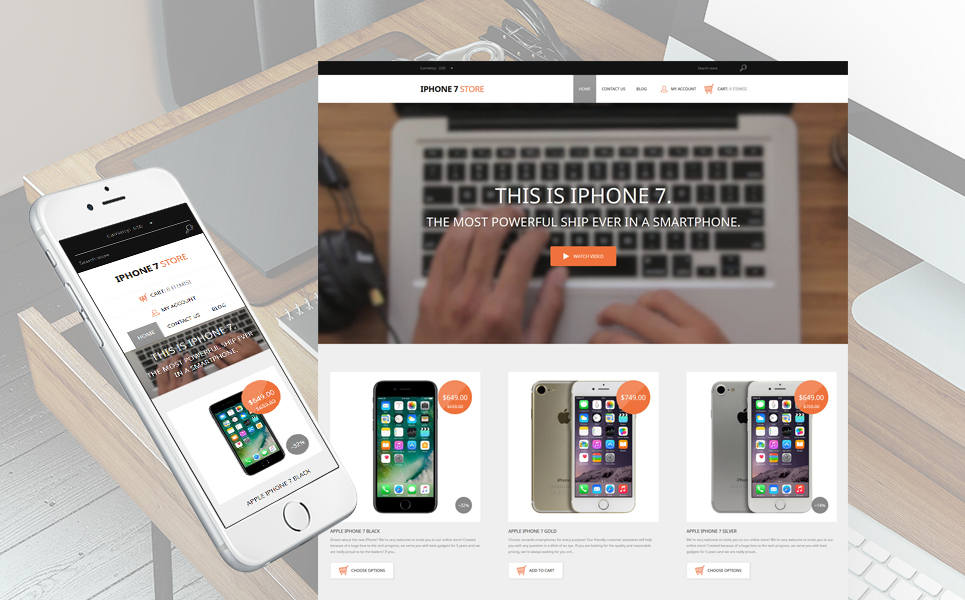 Mobile Phone Store (theme for Shopify) Item Picture