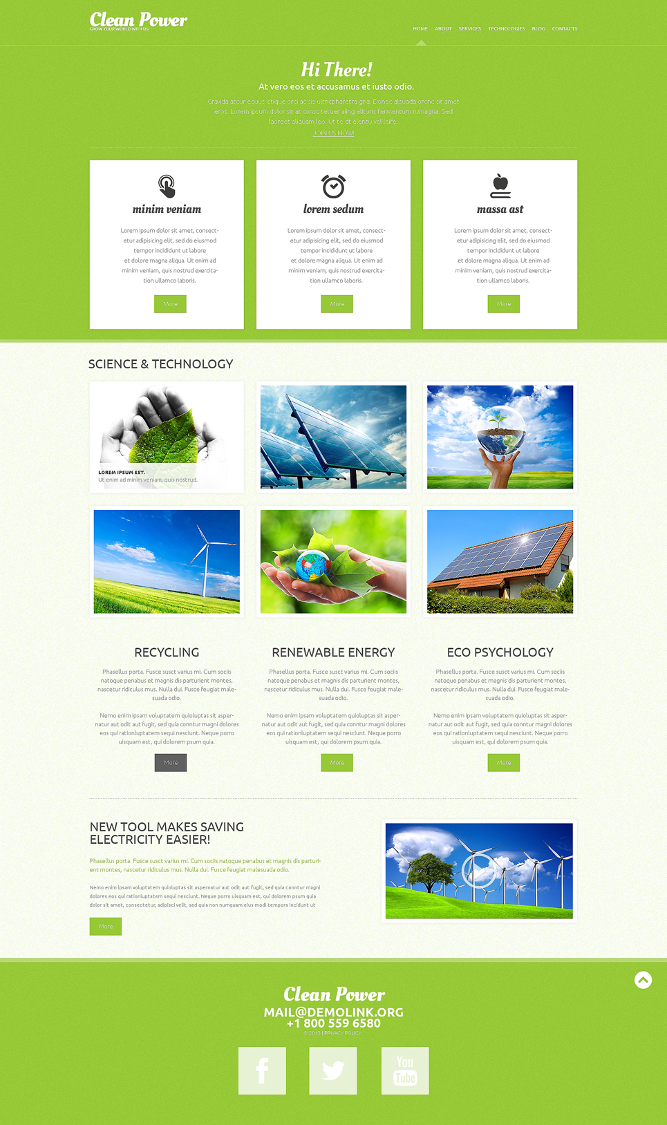 Clean Power (website theme) Item Picture