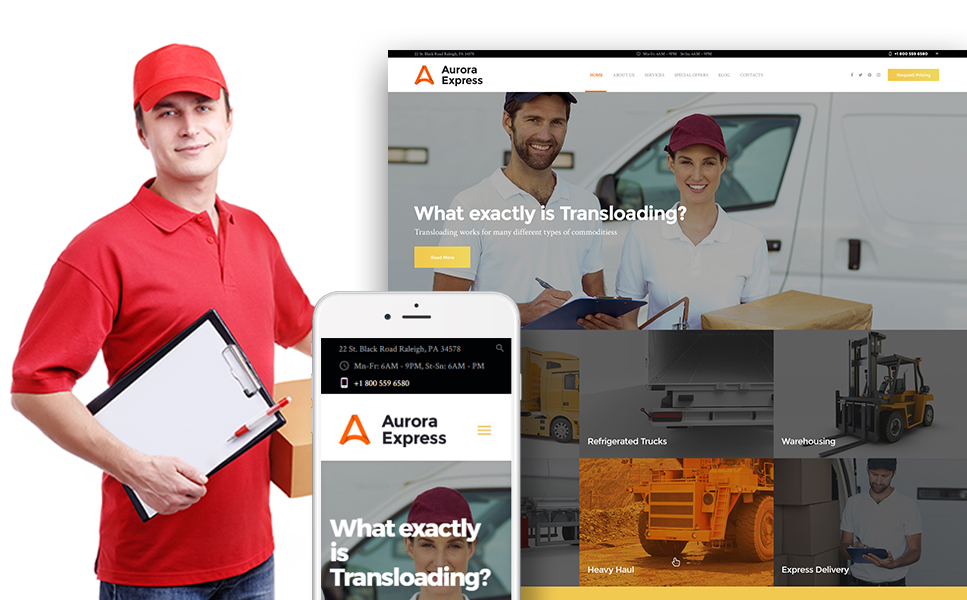 AuroraExpress (WordPress template) Item Picture