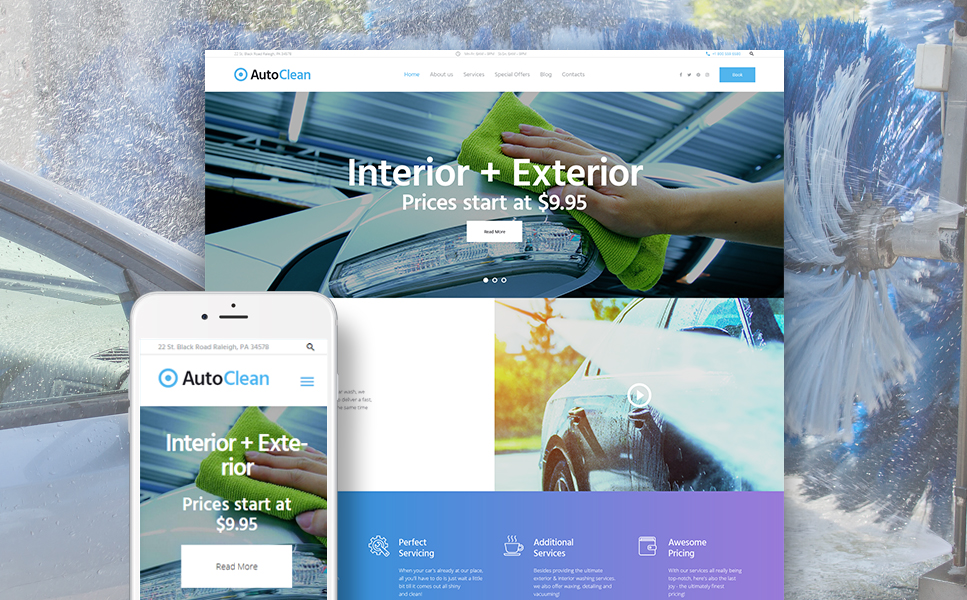 AutoClean (WordPress template) Item Picture