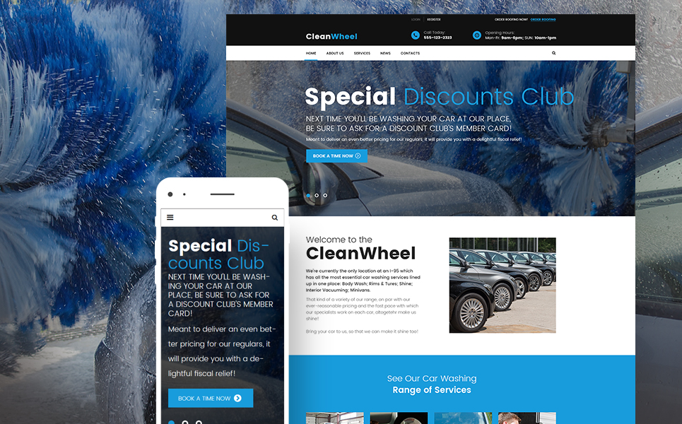 CleanWheels (theme for your WordPress site) Item Picture