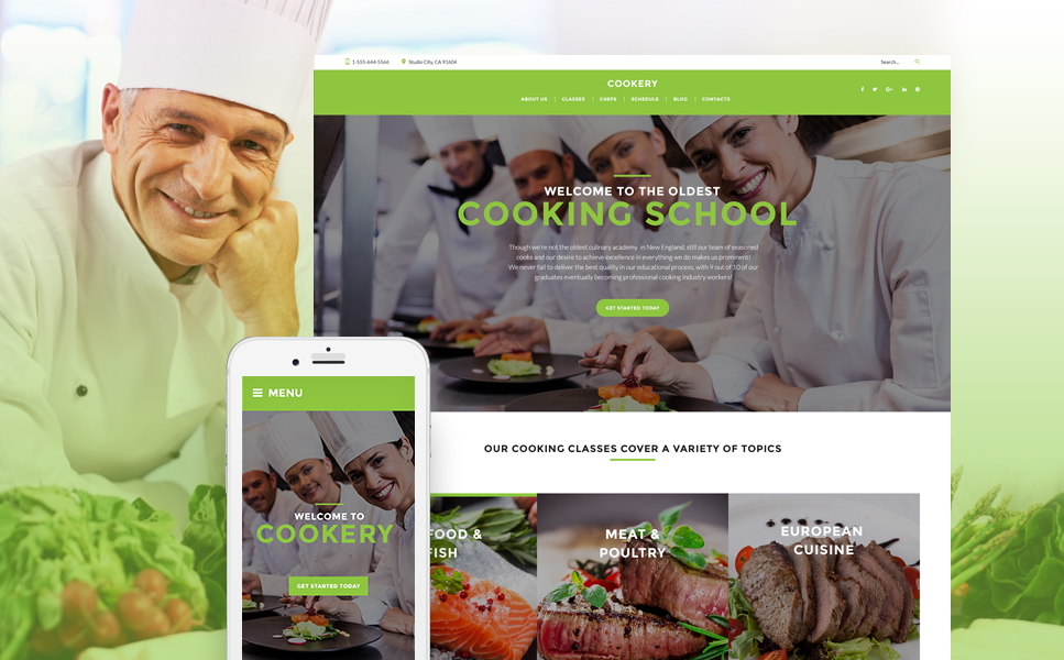 Cooking (theme for your WordPress site) Item Picture