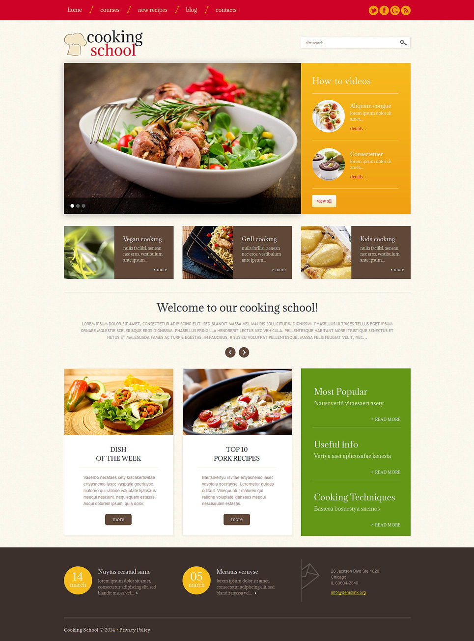 Cooking School (WordPress theme) Item Picture