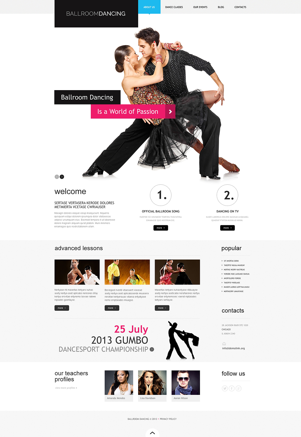 Ballroom Dancing (template) Item Picture