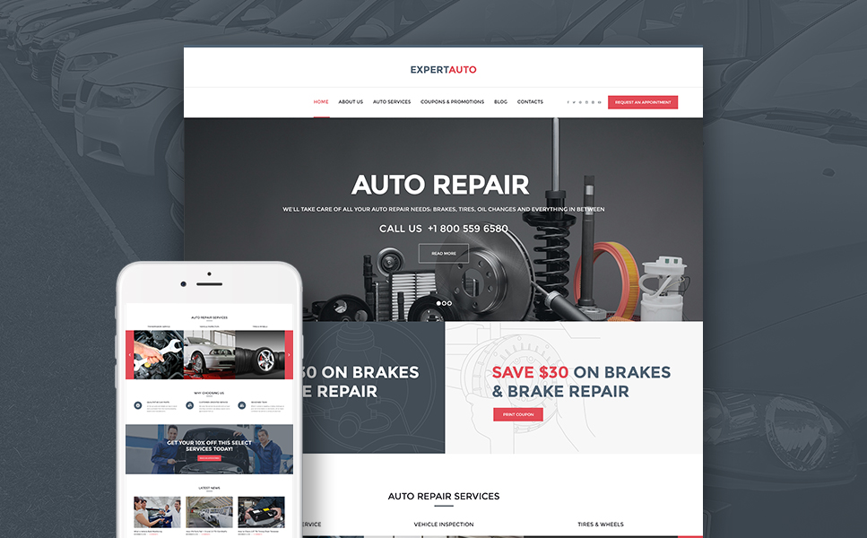 ExpertAuto (theme for your WordPress site) Item Picture