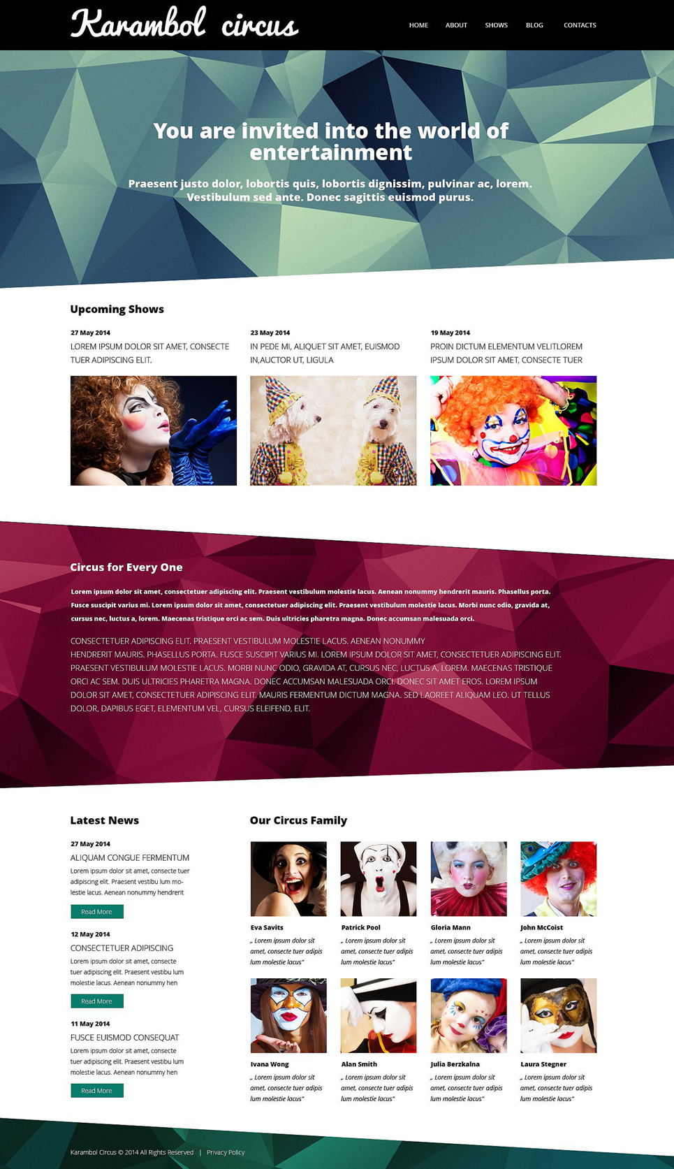 Karambol Circus (theme for WordPress) Item Picture