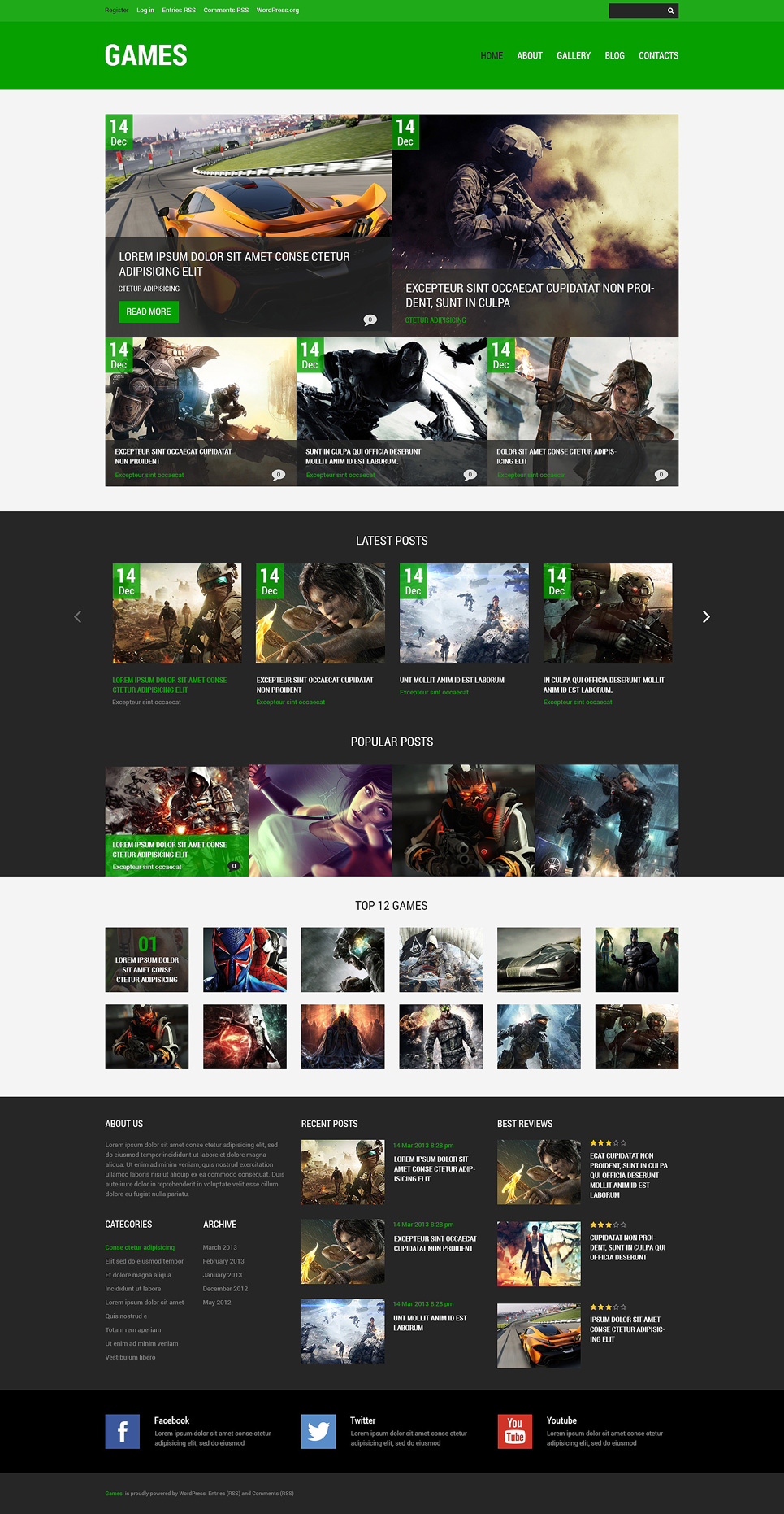 Game Portal (WordPress template) Item Picture