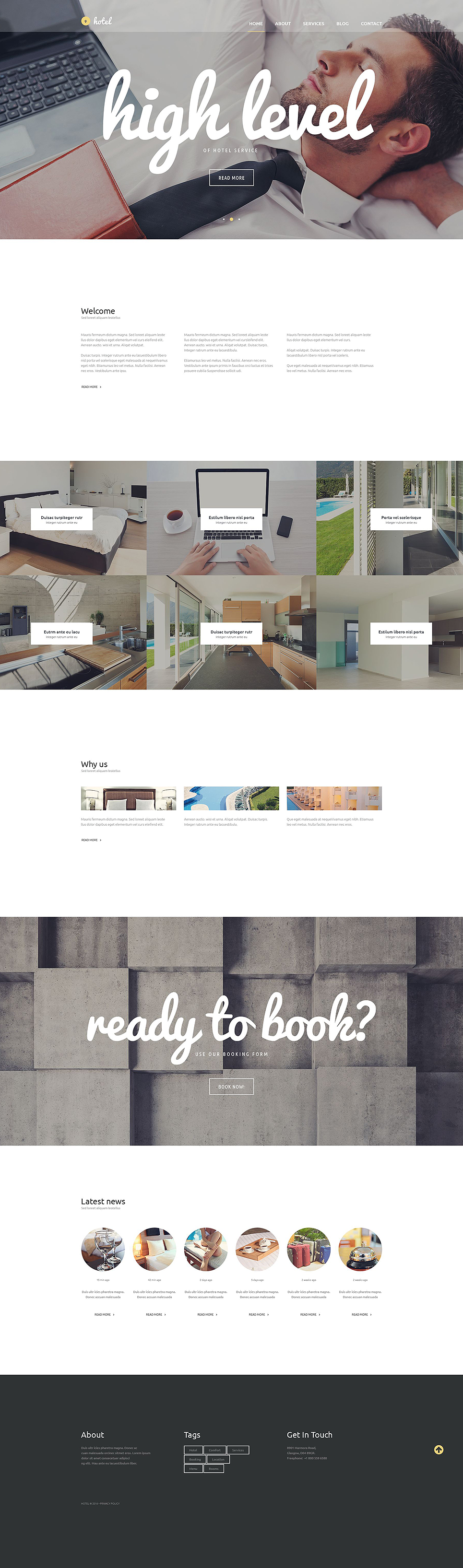 Hotel Business (theme for your WordPress site) Item Picture