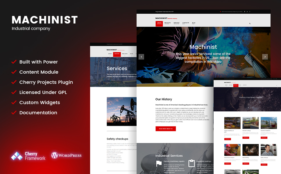 Machinist (theme for WordPress) Item Picture