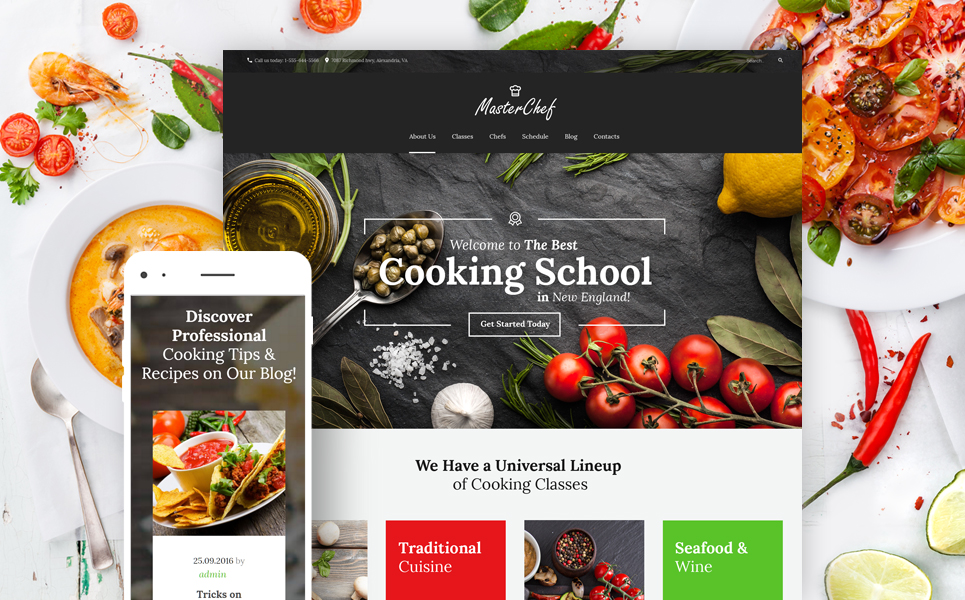 Master Chef Cooking School (website theme) Item Picture