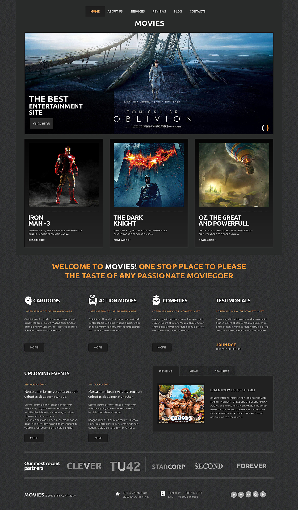 Movie Site (theme for WordPress) Item Picture